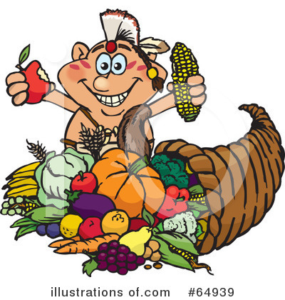 Royalty-Free (RF) Thanksgiving Clipart Illustration by Dennis Holmes Designs - Stock Sample #64939