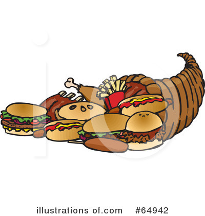 Royalty-Free (RF) Thanksgiving Clipart Illustration by Dennis Holmes Designs - Stock Sample #64942
