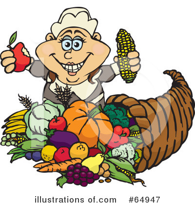 Royalty-Free (RF) Thanksgiving Clipart Illustration by Dennis Holmes Designs - Stock Sample #64947