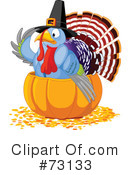 Royalty-Free (RF) Thanksgiving Clipart Illustration #73133