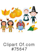 Royalty-Free (RF) Thanksgiving Clipart Illustration #75647