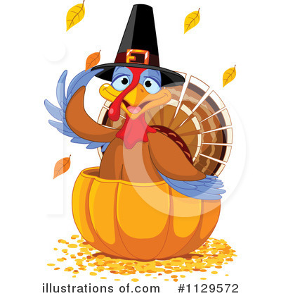 Thanksgiving Turkey Clipart #1129572 by Pushkin