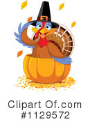 Royalty-Free (RF) Thanksgiving Turkey Clipart Illustration #1129572