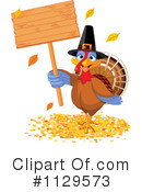 Royalty-Free (RF) Thanksgiving Turkey Clipart Illustration #1129573