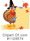 Royalty-Free (RF) Thanksgiving Turkey Clipart Illustration #1129574