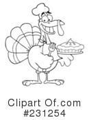 Royalty-Free (RF) Thanksgiving Turkey Clipart Illustration #231254