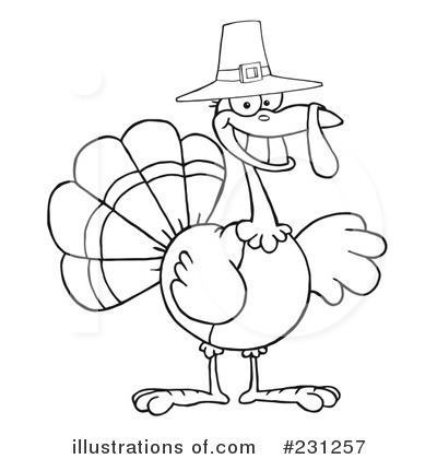 Thanksgiving Clip  Images on Thanksgiving Turkey Clipart  231257 By Hit Toon   Royalty Free  Rf