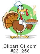 Royalty-Free (RF) Thanksgiving Turkey Clipart Illustration #231258