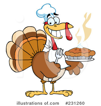 Royalty-Free (RF) Thanksgiving Turkey Clipart Illustration by Hit Toon - Stock Sample #231260