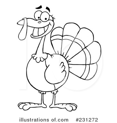 Download Clipart Black And White Turkey Clipart - Black And White Turkey -  Full Size PNG Image - PNGkit