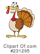 Royalty-Free (RF) Thanksgiving Turkey Clipart Illustration #231295