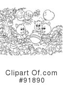 Royalty-Free (RF) The Three Little Pigs Clipart Illustration #91890