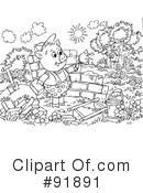 Royalty-Free (RF) The Three Little Pigs Clipart Illustration #91891