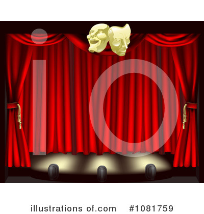 Stage Clipart #1081759 by AtStockIllustration