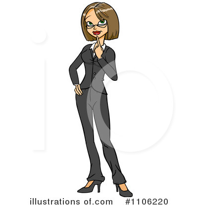 Businesswoman Clipart #1106220 by Cartoon Solutions