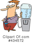 Royalty-Free (RF) thirsty Clipart Illustration #434572