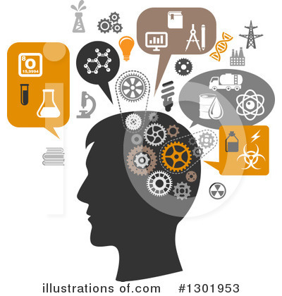 Thinking Clipart #1301953 by Vector Tradition SM