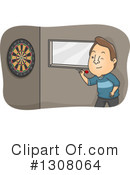 Throwing Darts Clipart #1308064 by BNP Design Studio