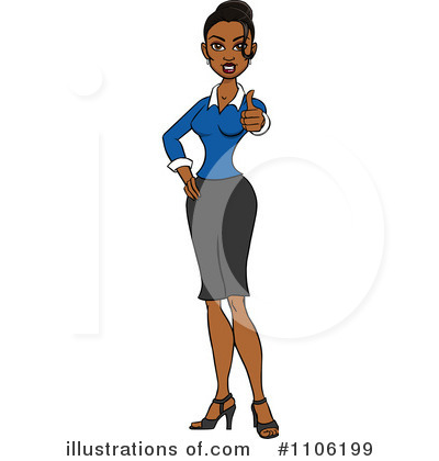 Businesswoman Clipart #1106199 by Cartoon Solutions