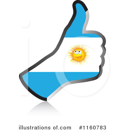 Thumb Up Flag Clipart #1160783 by Andrei Marincas