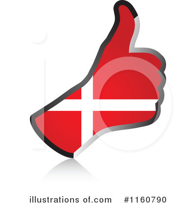 Thumb Up Flag Clipart #1160790 by Andrei Marincas