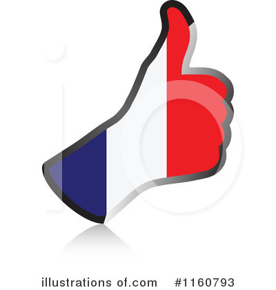 Thumb Up Flag Clipart #1160793 by Andrei Marincas
