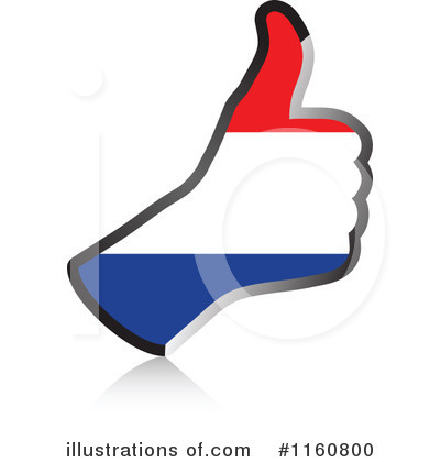Thumb Up Flag Clipart #1160800 by Andrei Marincas