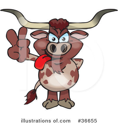 Cow Clipart #36655 by Dennis Holmes Designs