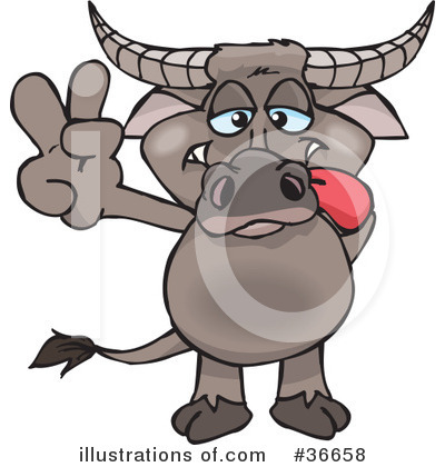 Bison Clipart #36658 by Dennis Holmes Designs