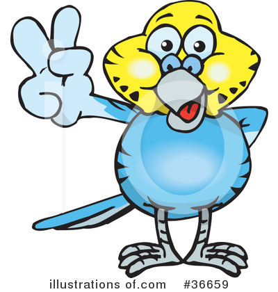 Parakeet Clipart #36659 by Dennis Holmes Designs