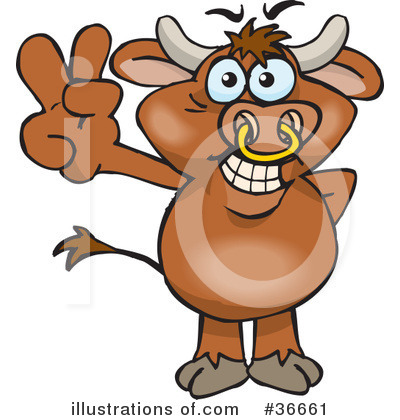 Bull Clipart #36661 by Dennis Holmes Designs
