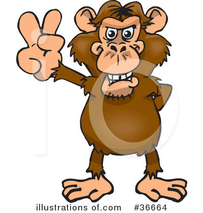 Monkey Clipart #36664 by Dennis Holmes Designs