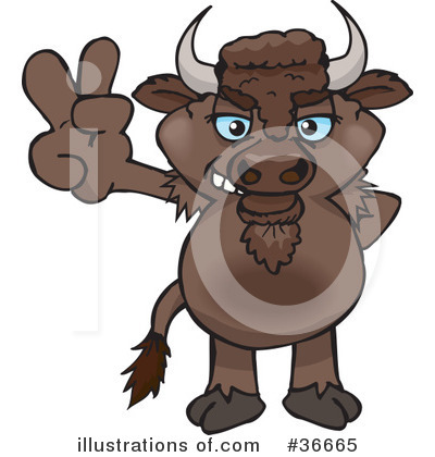 Bison Clipart #36665 by Dennis Holmes Designs
