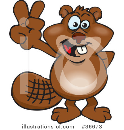 Beaver Clipart #36673 by Dennis Holmes Designs