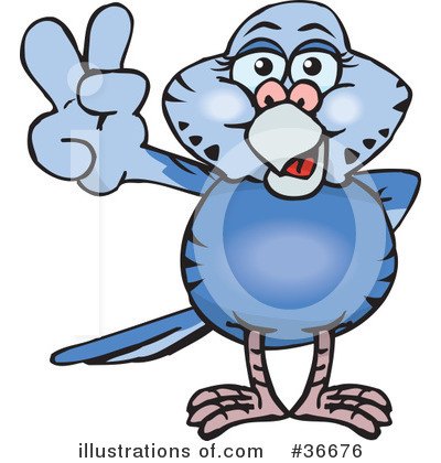 Parakeet Clipart #36676 by Dennis Holmes Designs
