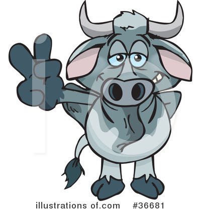 Cow Clipart #36681 by Dennis Holmes Designs