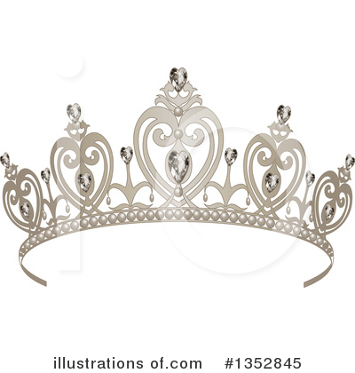 Royalty-Free (RF) Tiara Clipart Illustration by Pushkin - Stock Sample #1352845