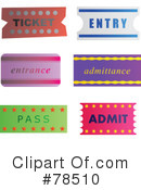 Ticket Clipart #78510