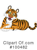 Royalty-Free (RF) Tiger Clipart Illustration #100482