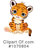 Royalty-Free (RF) Tiger Clipart Illustration #1070804