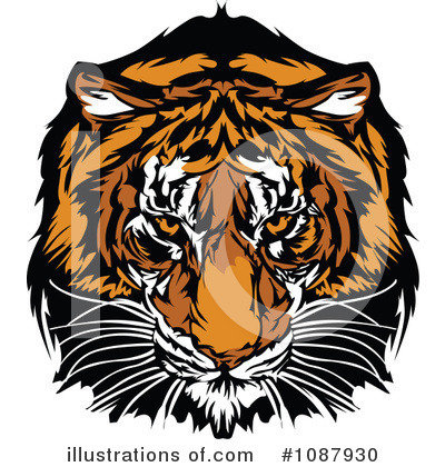Tiger Clipart #1087930 by Chromaco