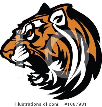 Tiger Clipart #1087931 by Chromaco