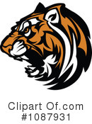 Royalty-Free (RF) Tiger Clipart Illustration #1087931