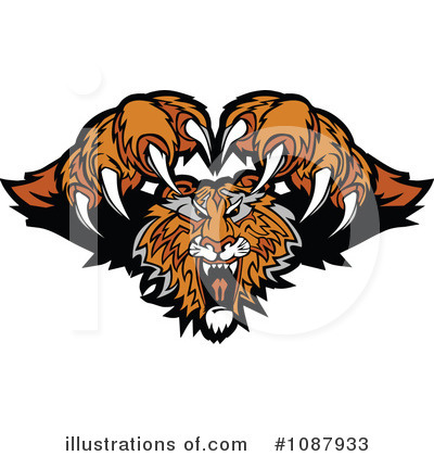 Tiger Clipart #1087933 by Chromaco