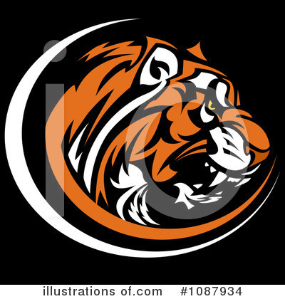 Tiger Clipart #1087934 by Chromaco