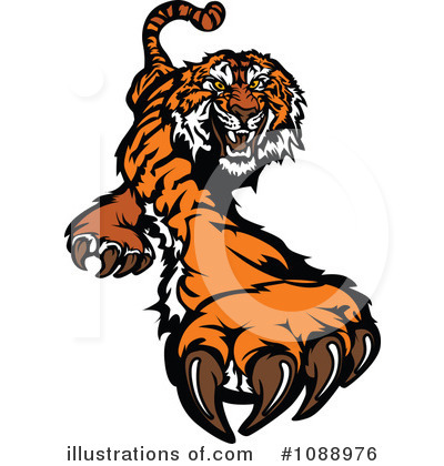 Tiger Clipart #1088976 by Chromaco