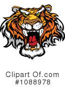 Royalty-Free (RF) Tiger Clipart Illustration #1088978