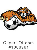 Royalty-Free (RF) Tiger Clipart Illustration #1088981