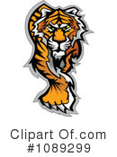 Royalty-Free (RF) Tiger Clipart Illustration #1089299