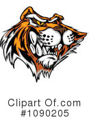 Royalty-Free (RF) Tiger Clipart Illustration #1090205